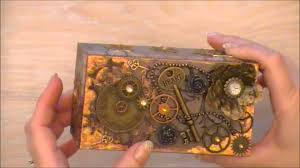 steampunk style altered mini box youtube