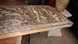 carved wood plank antique large carved wood plank war story beautiful