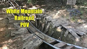 best themed backyard roller coaster pov white mountain railroad