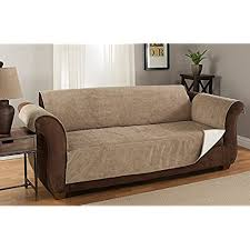non slip cover for leather sofa leather sofa cover amazon com