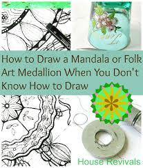 house revivals easy mandala or folk art medallion tutorial