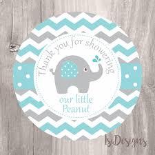 peanut baby shower elephant baby shower favor tags printable aqua and grey shower