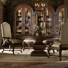 hooker furniture adagio dining set with 72 inch round table and 4