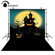 halloween neighborhood background allenjoy halloween backdrop pumpkin full moon night background for