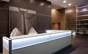 Illuminated Reception Desk Laminate Reception Desk Illuminated Dv702 By Antonio Morello