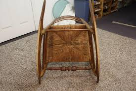 Antique Pressed Back Rocking Chair Antique 1800 U0027s Ladder Back Rush Seat Rocking Chair Sold On Ruby Lane