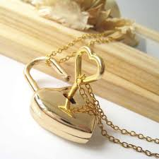 heart lock pendant necklace images Best heart lock and key necklace products on wanelo jpg