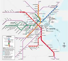Mbta Train Map by Boston T Map Free Printable Maps