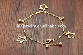 gold plated charm bracelet chain images 2017 fashion jewelry starfish anklets wholesale stainless steel jpg