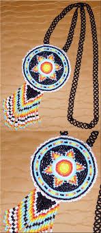 beaded medallion necklace images Fallen star beaded rosette necklace 2 jpg