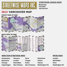 Map Of Vancouver Washington by Streetwise Vancouver Map Laminated City Center Street Map Of