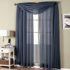 Navy Blue And White Horizontal Striped Curtains Abri Soft Rod Pocket Crushed Sheer Curtain Panel