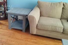 ana white rustic x end table hip n u0027 creative