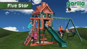 Home Depot Playset Installation Outdoors Dazzling Design Of Gorilla Playsets For Kids Playground