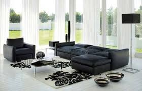 great designs of living room with black color with black couch