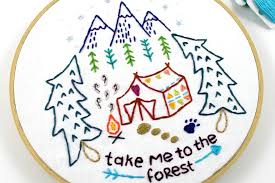 9 embroidery patterns that celebrate the outdoors