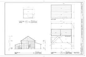 file floor plan of garage and barn loft plan and section of barn