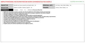 Sample Recruiting Resume by Aerotek Recruiter Resumes Samples