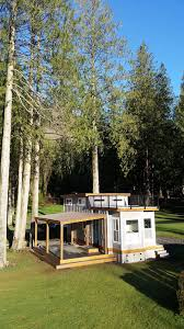 Tiny House Deck by Test Out Tiny House Living At One Of These Nature Immersed Cabin