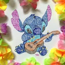 stich et sa guitare disney world pinterest guitares dessin