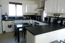 deco cuisine blanc et cuisine noir et blanche deco decoration 1 blanc bois lzzy co