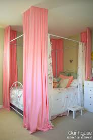 Canopy Bed Curtains For Girls Bright U0026 Colorful Bedroom Small Changes With A Big Impact