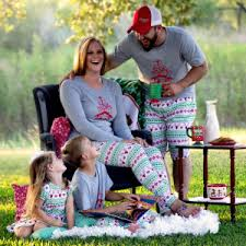 matching family pajamas family reindeer