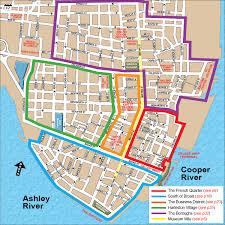 charleston trolley map charleston sc district s neighborhoods map jpg 1500 1500