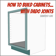 Kitchen Cabinet Construction Plans by Detailed Instructions To Build A Cabinet Using Dado Joints From