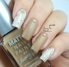 white lace decals nail art feat barry m and born pretty store