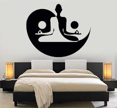 Zen Bedroom Ideas by Vinyl Wall Decal Yin Yang Yoga Zen Meditation Bedroom Decor