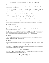 9 executive summary template apa format financial statement form
