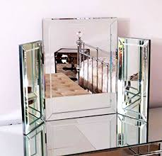 folding dressing table mirror modern clear venetian dressing table mirror stylish corners tri fold