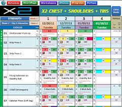 excel spreadsheet workout u0026 nutrition managers for p90x2
