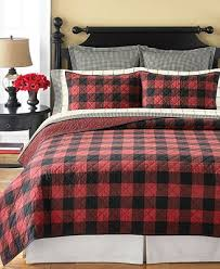 Martha Stewart Duvet Covers Martha Stewart Collection Montana Plaid Quilt And Sham Collection