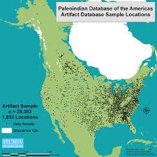 Native American Map Of Usa by Paleo Indians In Virginia