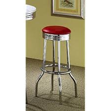 amazon com coaster retro nostalgic style bar stools 29 inches