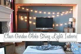 hanging globe lights indoors indoor garden lights of summer burlap denimburlap denim