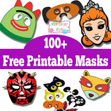 100 free printable masks kids halloween masks free