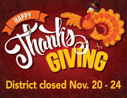 thanksgiving and district closure dates lufkin high school