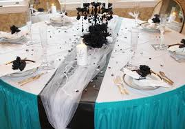 plastic table covers for weddings wedding colors teal ideas and inspiration tableskirts and more