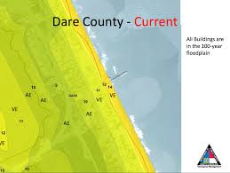Map Of Outer Banks Nc Have We Been Overestimating Flood Risk On The Outer Banks Wunc
