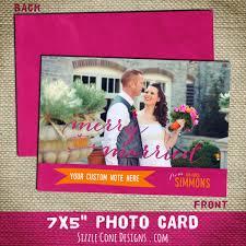 Newly Wed Christmas Card Newlywed Christmas Photo Card Merry U0026 Married Printable Or