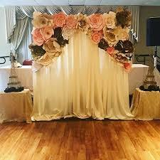 wedding backdrop paper flowers the 25 best paper flower backdrop ideas on flower