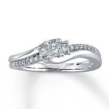 kays black engagement rings engagement ring 1 3 ct tw princess cut 10k white gold