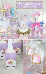 party ideas magical rainbow unicorn party supplies marshmallow pop ideas