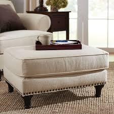 Espresso Ottoman Coffee Table Tufted Fabric Ottoman Coffee Table Fabric Footstool Footrest