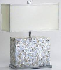 Rectangular Table Lamp Capiz Table Lamps Foter