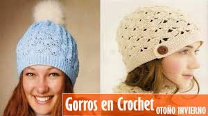 modelos modernos para gorras tejidas con gorro tejidos en crochet para mujer otoño invierno 2016 youtube