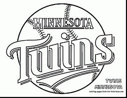 fabulous twins baseball coloring pages with baseball coloring